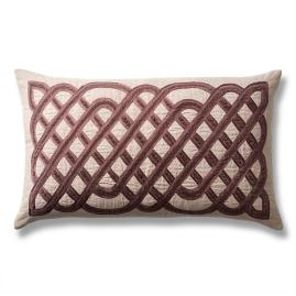 Velvet Lattice Decorative Lumbar Pillow