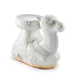White Ceramic Camel