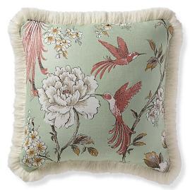 Avian Grove Mint Outdoor Pillow