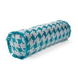 Houndstooth Fun Aruba Outdoor Bolster Pillow
