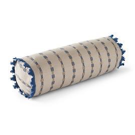 Morse Stripe Navy Outdoor Bolster Pillow