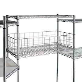Chrome Shelving Storage Fence