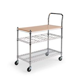 Chrome Serving Cart