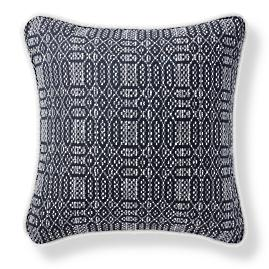 Amari Stitch Onyx Outdoor Pillow