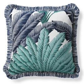 Atherton Palm Sapphire Outdoor Pillow
