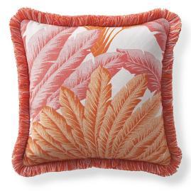 Atherton Palm Peony Outdoor Pillow