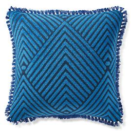 Carved Diamond Royal Outdoor Pillow