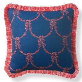 Chateau Garland Sapphire Outdoor Pillow