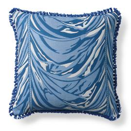 Halswell Swag Cobalt Outdoor Pillow
