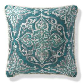 Piera Medallion Peacock Outdoor Pillow
