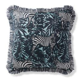 Zebra Jungle Aruba Outdoor Pillow