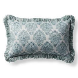 Kashmir Jewel Celadon Outdoor Lumbar Pillow