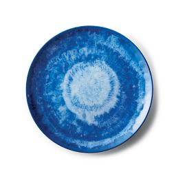 Reactive Blue Dinner Plates, Set of Four