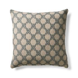 Trellis Tied Embroidered Pillow