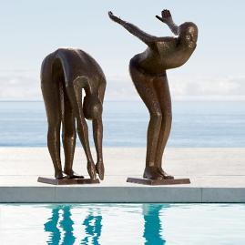 Platform Diver Sculpture by Porta Forma