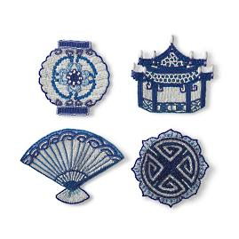 Kim Seybert Chinoiserie Ming Coasters, Set of Four