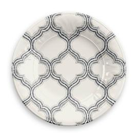Ikat Arabesque Salad Plates, Set of Four