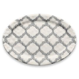 Ikat Arabesque Oval Platter