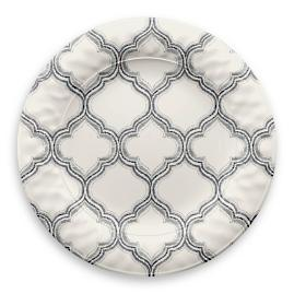 Ikat Arabesque Dinner Plates, Set of Four