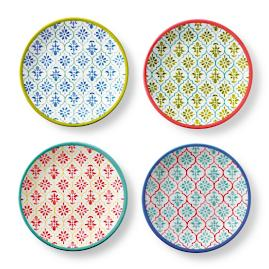 Kavala Mixed Appetizer Plates, Set of Four