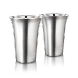 Double Wall Stainless Steel Coffee Cups, Set of