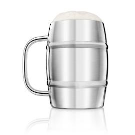 Double Wall Beer Keg Mug