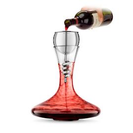 Twister Stainless Steel Aerator and Decanter Set