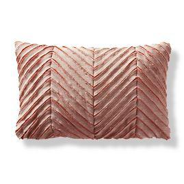 Chevron Phyllo Outdoor Lumbar Pillow by Porta Forma