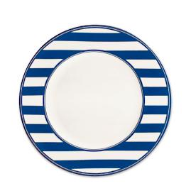 Beach Towel Stripe Dinner Plate