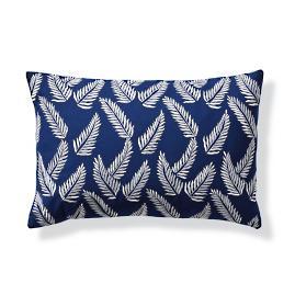 Fern Indigo Outdoor Lumbar Pillow