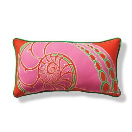 Nautilus Shell Outdoor Pillow