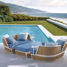 Ravello Oasis Daybed & Ottoman with Cushions by