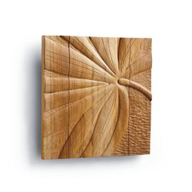 Palm Leaf Teak Wall Art