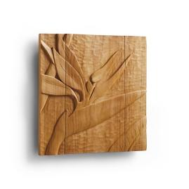 Bird of Paradise Teak Wall Art