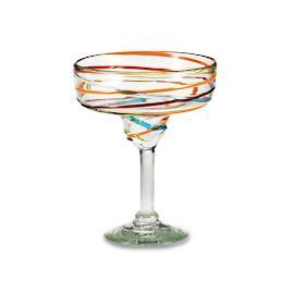 Margaritaville Swirl Margarita Glasses, Set of Four
