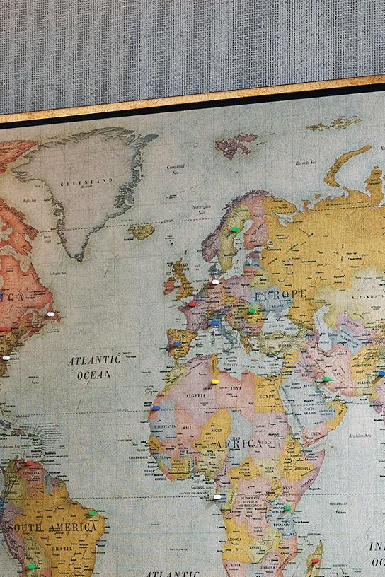 Heirloom Antiqued Linen Map Frontgate