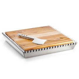 Filo Square Tray with Cutting Board by Porta