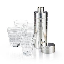 Plaza Cocktail Shaker with Glasses Set by Porta