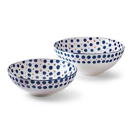 Median Serving Bowls, Set of Two