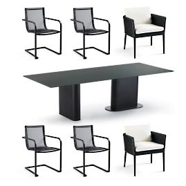 Palazzo Carbon 7-pc. Dining Set by Porta Forma