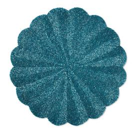 Donatella Scalloped Beaded Placemats, Set of Four