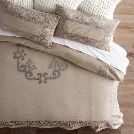 Ariana Metallic Applique Duvet