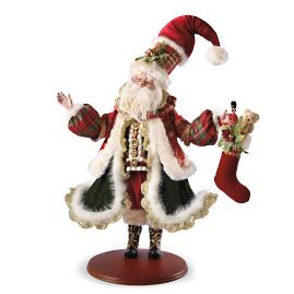 Mark Roberts Santa Filling Stockings Figure