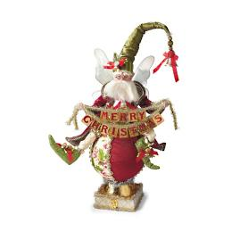 Mark Roberts Christmas Greeting Fairy Stocking Holder
