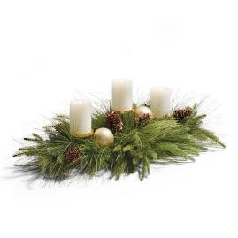 Sun Valley Pre-Decorated Candleholder Centerpiece