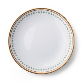 Donatella Capri Melamine Dinner Plates, Set of Four