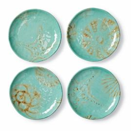 Sea Medley Appetizer Plate, Set of Four