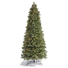 Noble Slim Artificial Pre-lit Christmas Tree