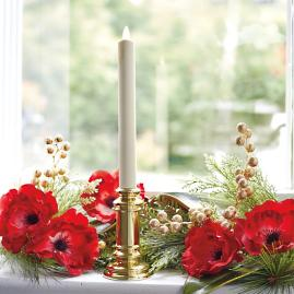 Dream Window Candles with Brass Base, Set of