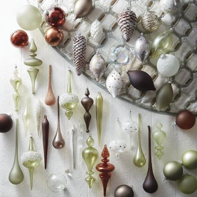 Natural Elements 60 Pc Ornament Collection Frontgate